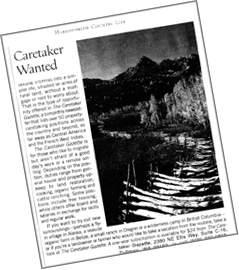 Image of clipping from Harrosmith Country Life